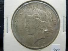 1922 Silver Peace Dollar- 90% Silver