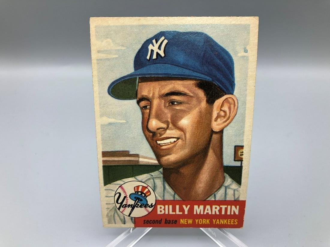 1953 Topps Billy Martin #86 Short Print