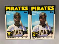 1986 Topps Traded Barry Bonds #11 RC Lot of 2