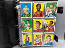 Album of Misc Vintage Basketball Cards  135 Cards