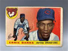 1955 Topps Ernie Banks #28 2nd Year Card