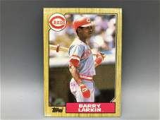 1987 Topps Barry Larkin Hand Signed Rookie Card