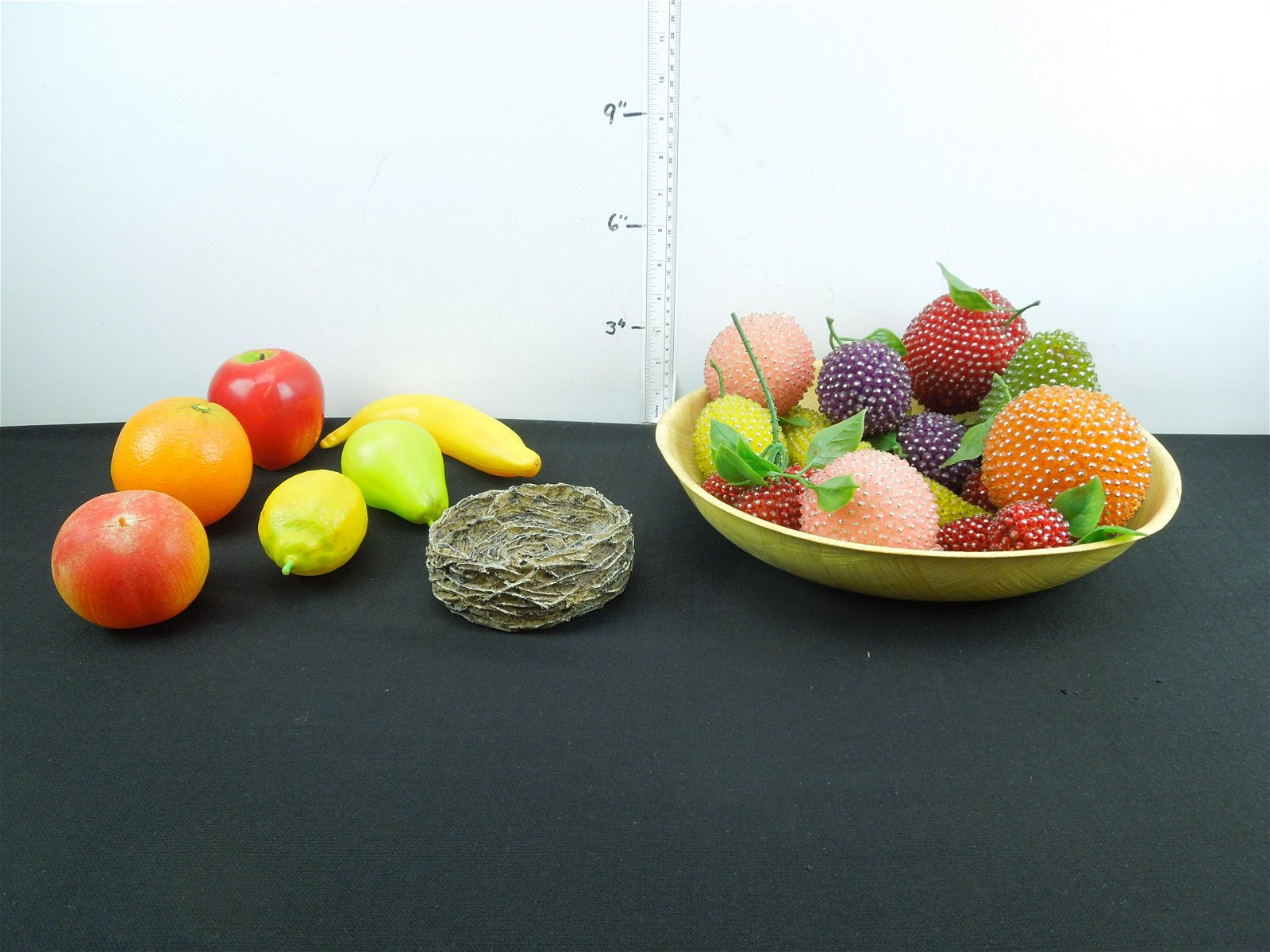 Lot of Assorted Household Décor - Decorative Fruit,