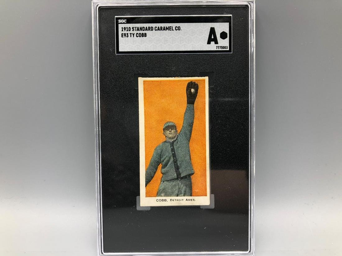 1910 Standard Caramel Ty Cobb SGC Authentic Iconic Card