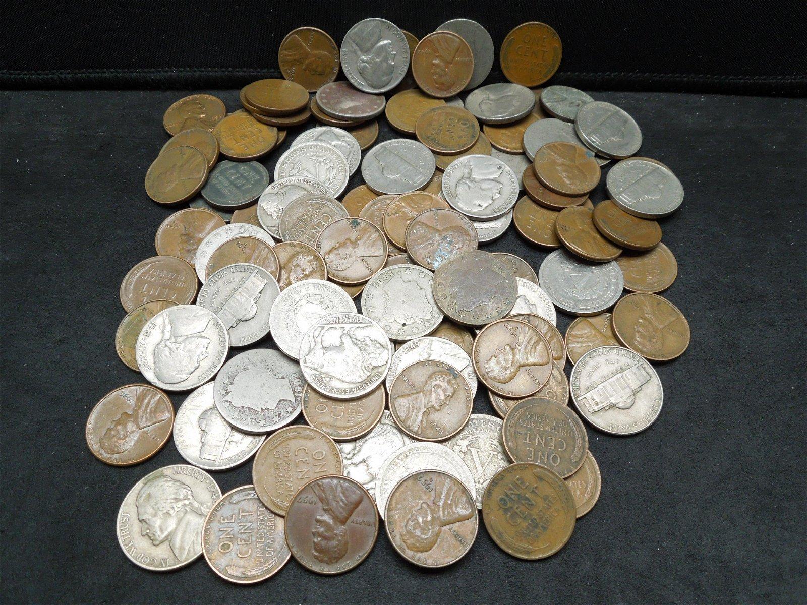 100 Coin Grab Bag - Buffalo Nickels, Liberty Head V