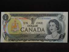 1973 Canada One Dollar Note Crisp