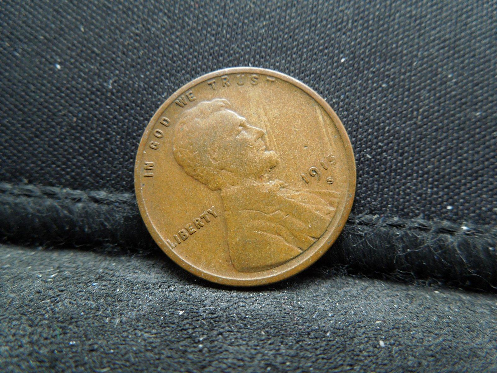 1915-S Semi-Key Date Lincoln Head Cent.