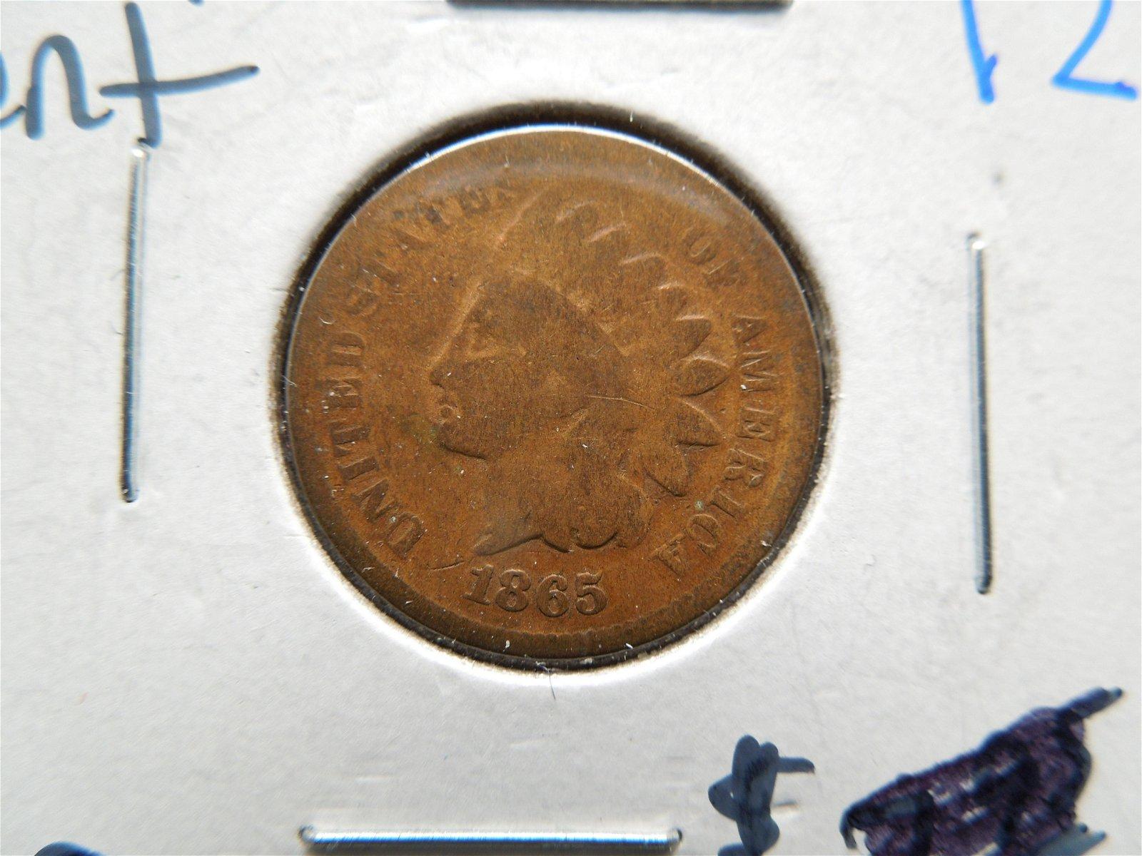 1865 civil war era Indian head cent