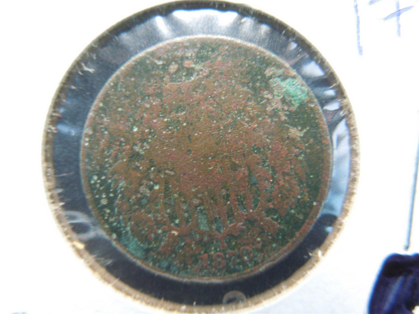 key date 1870 2 cent piece