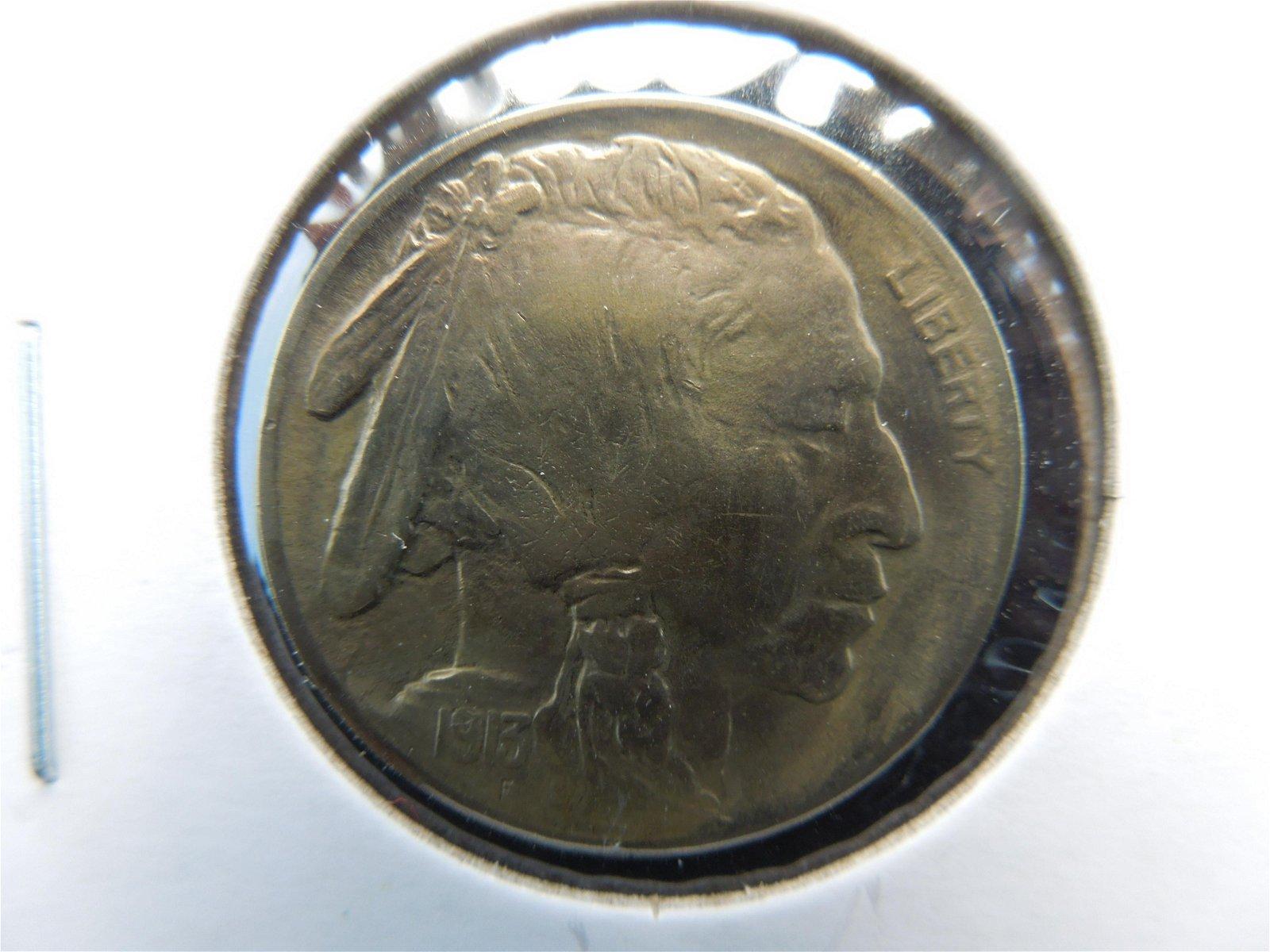 uncirculated 1913 type 1 buffalo nickel