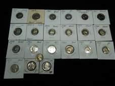 22 Jefferson Nickels Various Dates