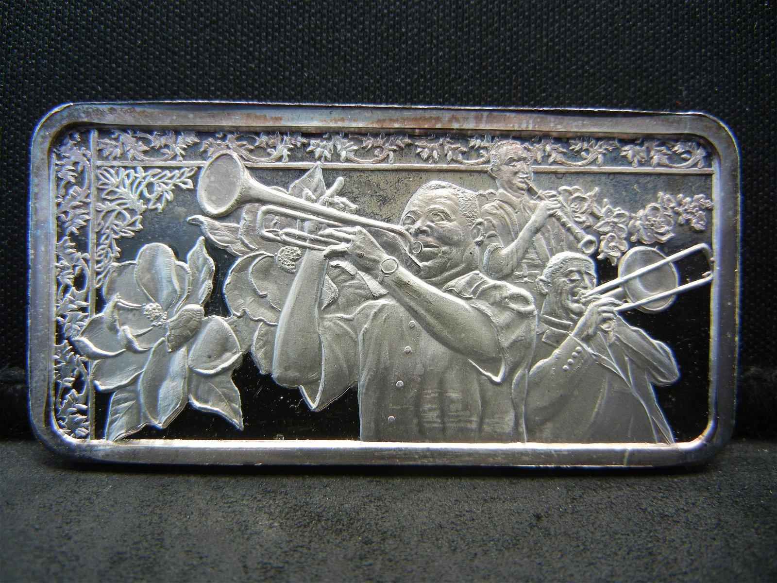 America The Beautiful  1 oz Silver Art bar .999