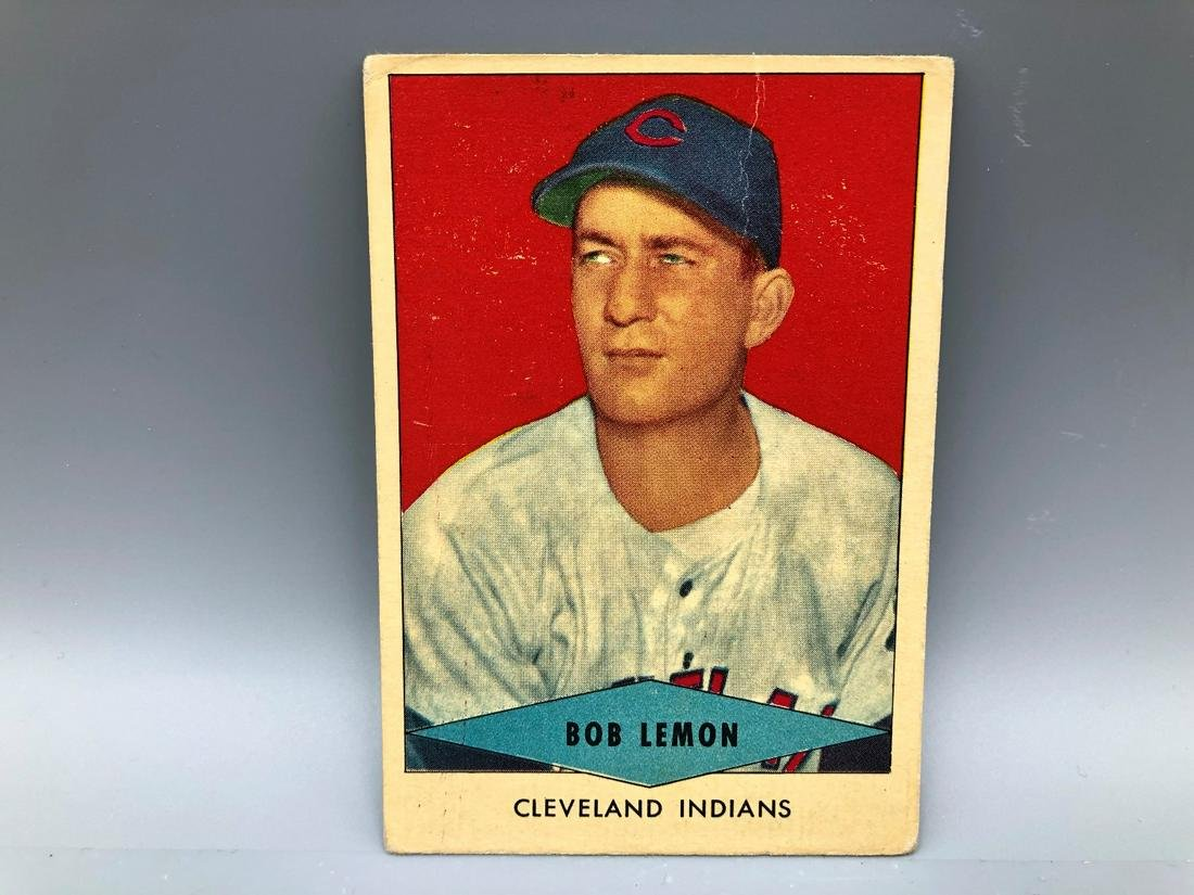 1954 Red Heart Bob Lemon Short Print HOF