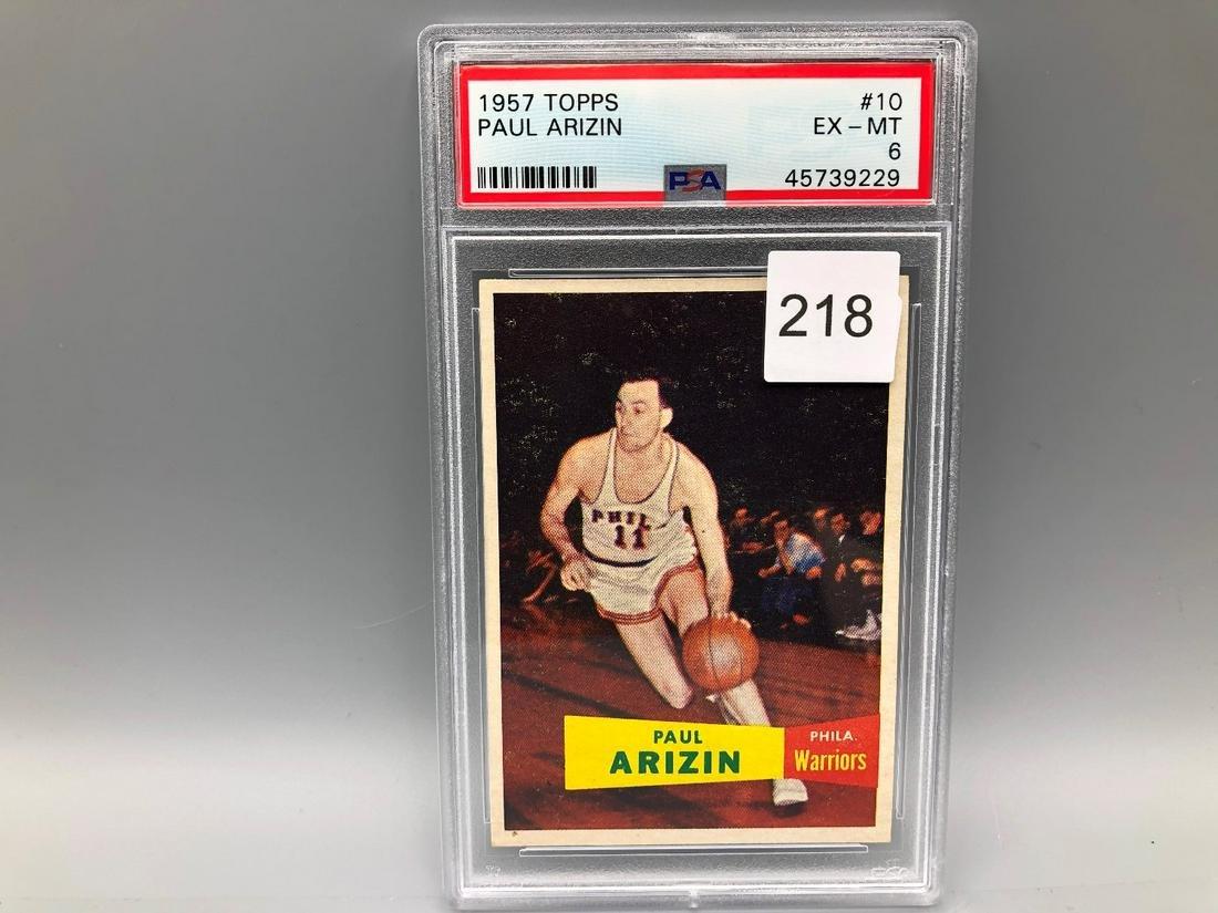 1957 Topps Paul Arizin #10 PSA 6 NM Rookie HOF