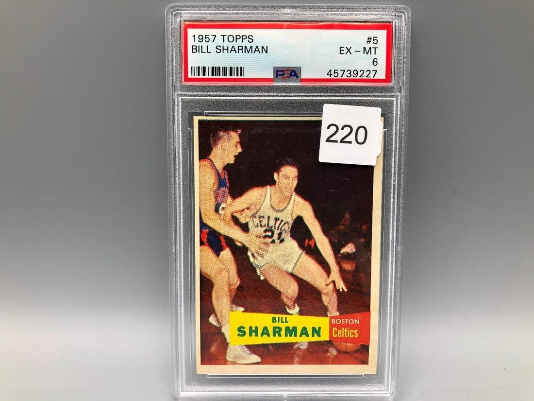 1957 Topps Bill Sharman PSA 6 Rookie HOF