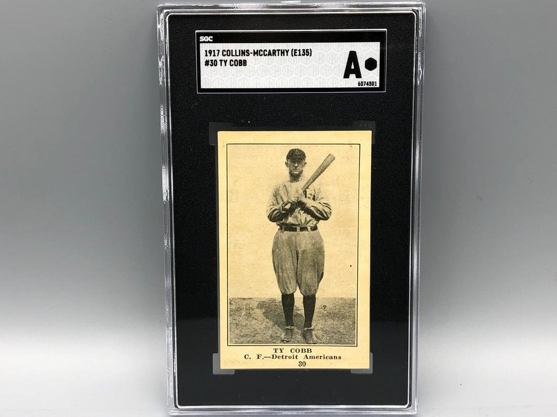 1917 Collins-McCarthy Ty Cobb #30 SGC Authentic  Ultra