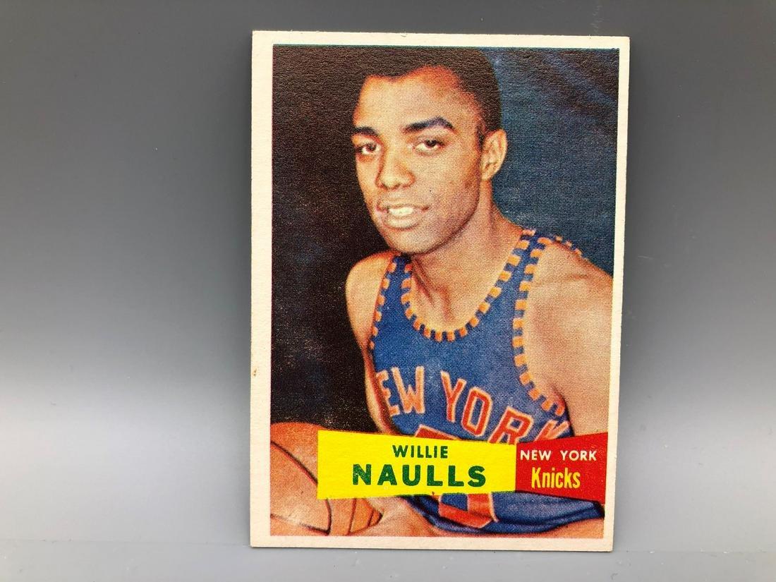 1957 Topps Willie Naulls #29 Rookie Short Print