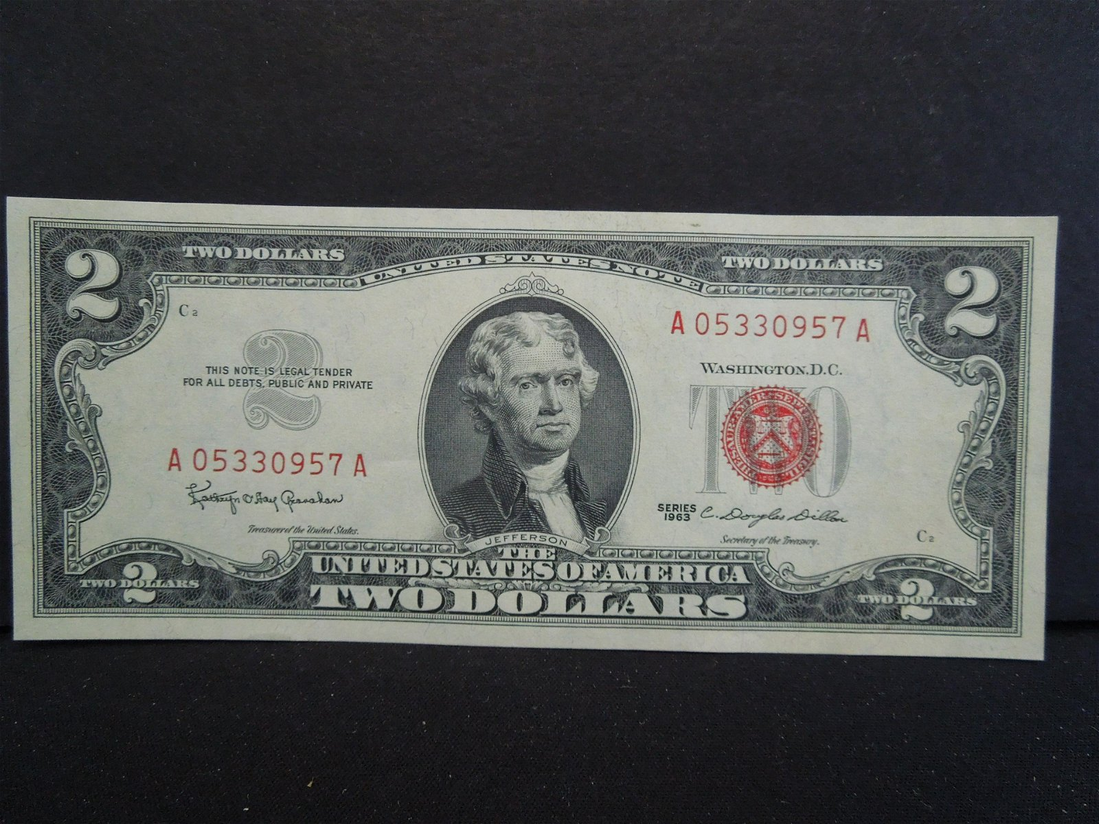 1963 $2 US Note - Red Seal
