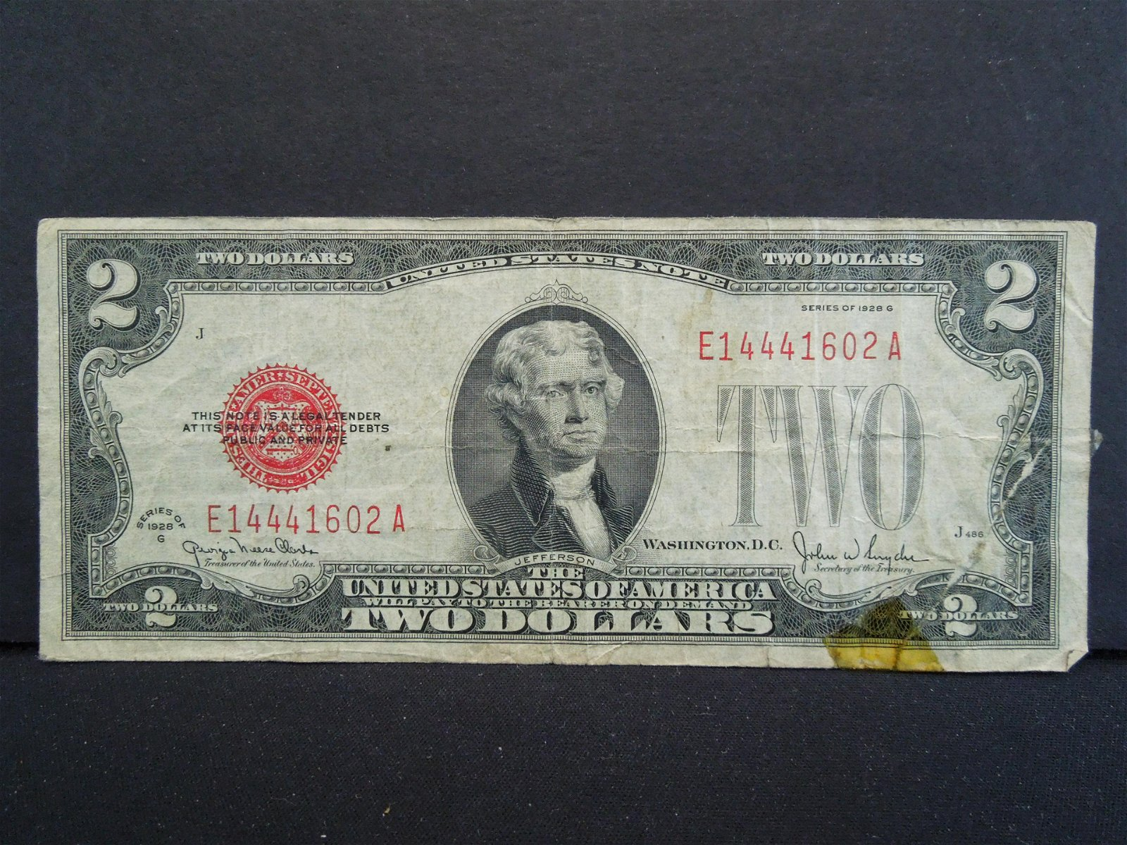 1928 $2 US Note - Red Seal