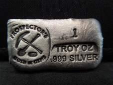 1 Ounce Silver Poured Bar