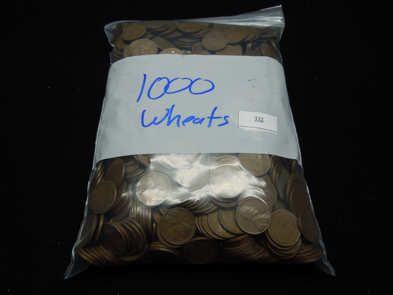 (1000) Wheat Cents in Bag, Steel Cents And Early Dates