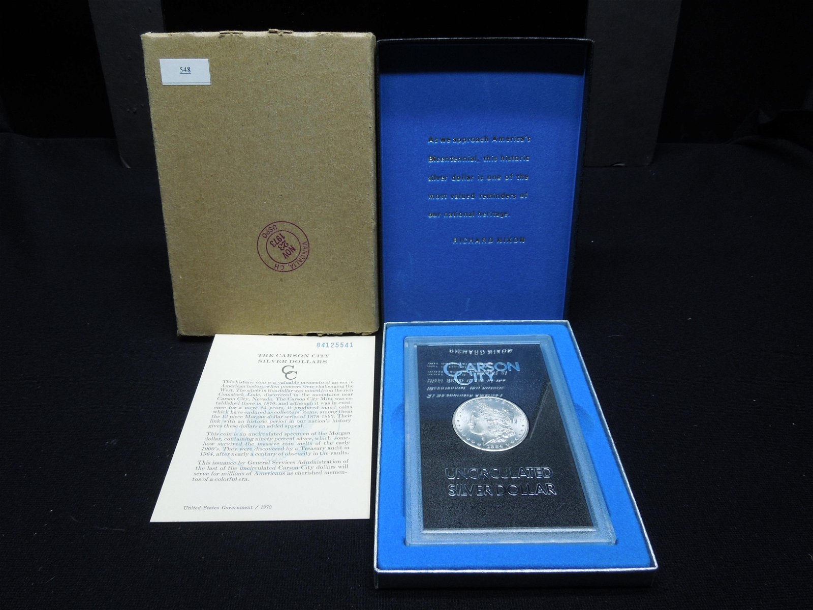 1884 CC Morgan Dollar GSA With Original Box
