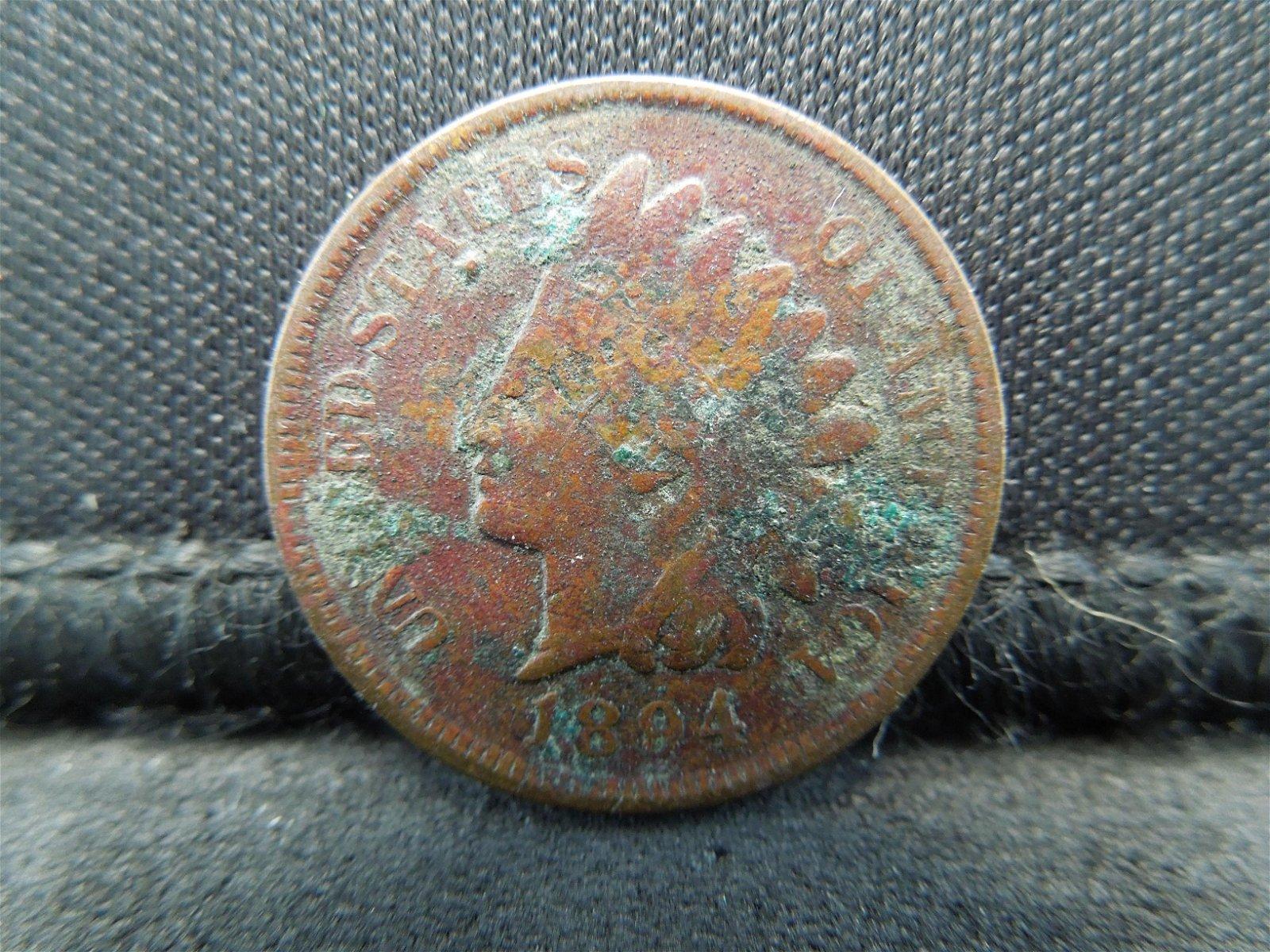 1894 Semi-Key Date Indian Head Cent.