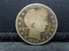 1898 United States Barber Silver Quarter