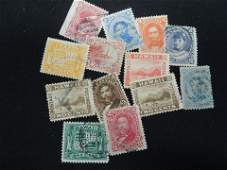 Lot of 13 Early Hawaii Postage Stamps  Used
