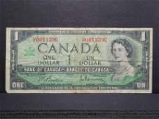 1967 Ottawa Canada One Dollar Note