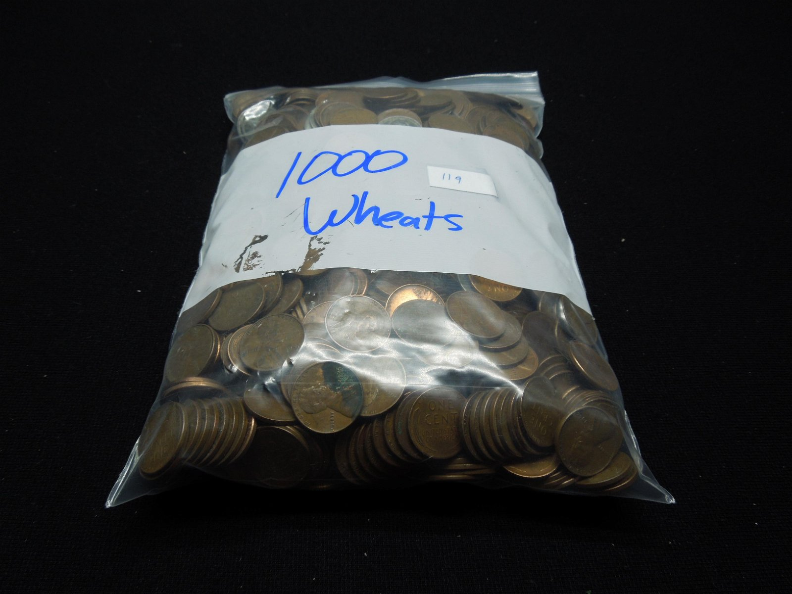 (1000) Wheat Cent s in A Bag Steel Cents and Earlier