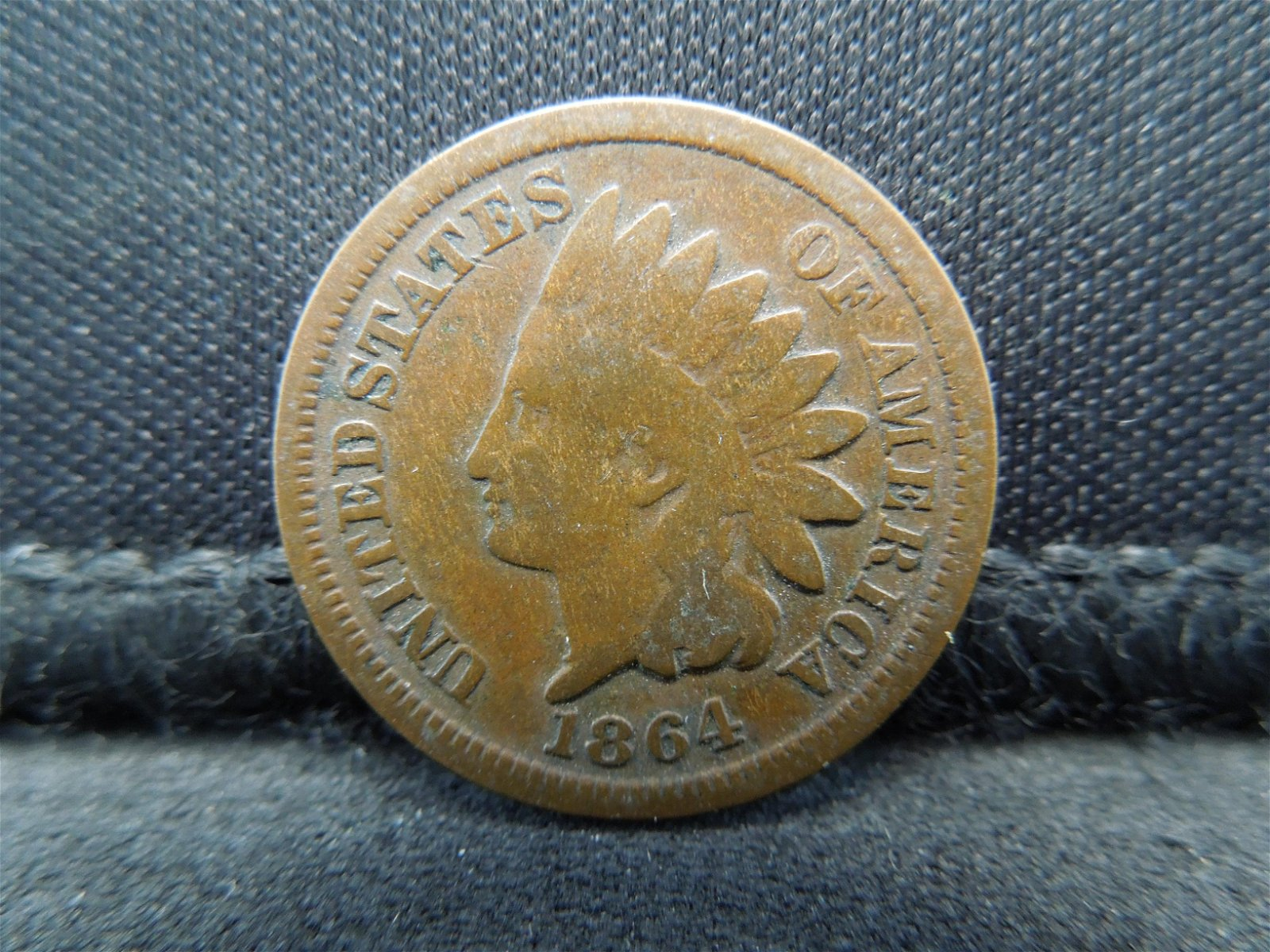 1864 United States Indian Head Cent.  Civil War Year.