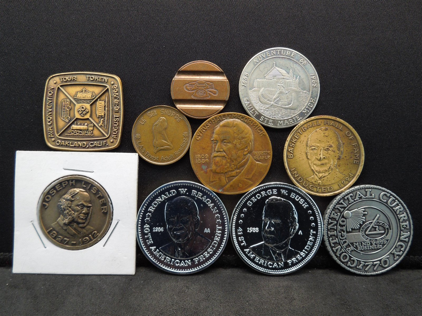 Group of 10 Different Medals and Tokens.