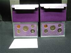 1990 & 1991 United States 5-Coin Proof Sets