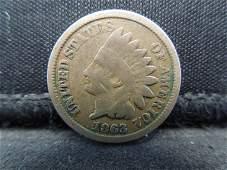 1863 CN Indian Head Cent, Civil War Year.