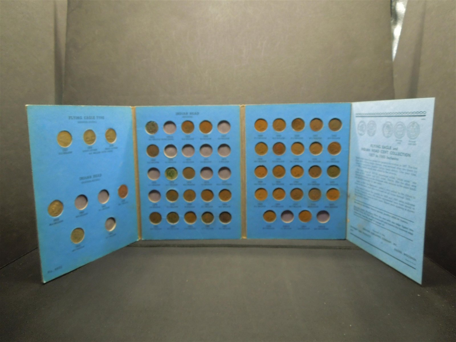 Indian Head Cent Book with (43) Coins