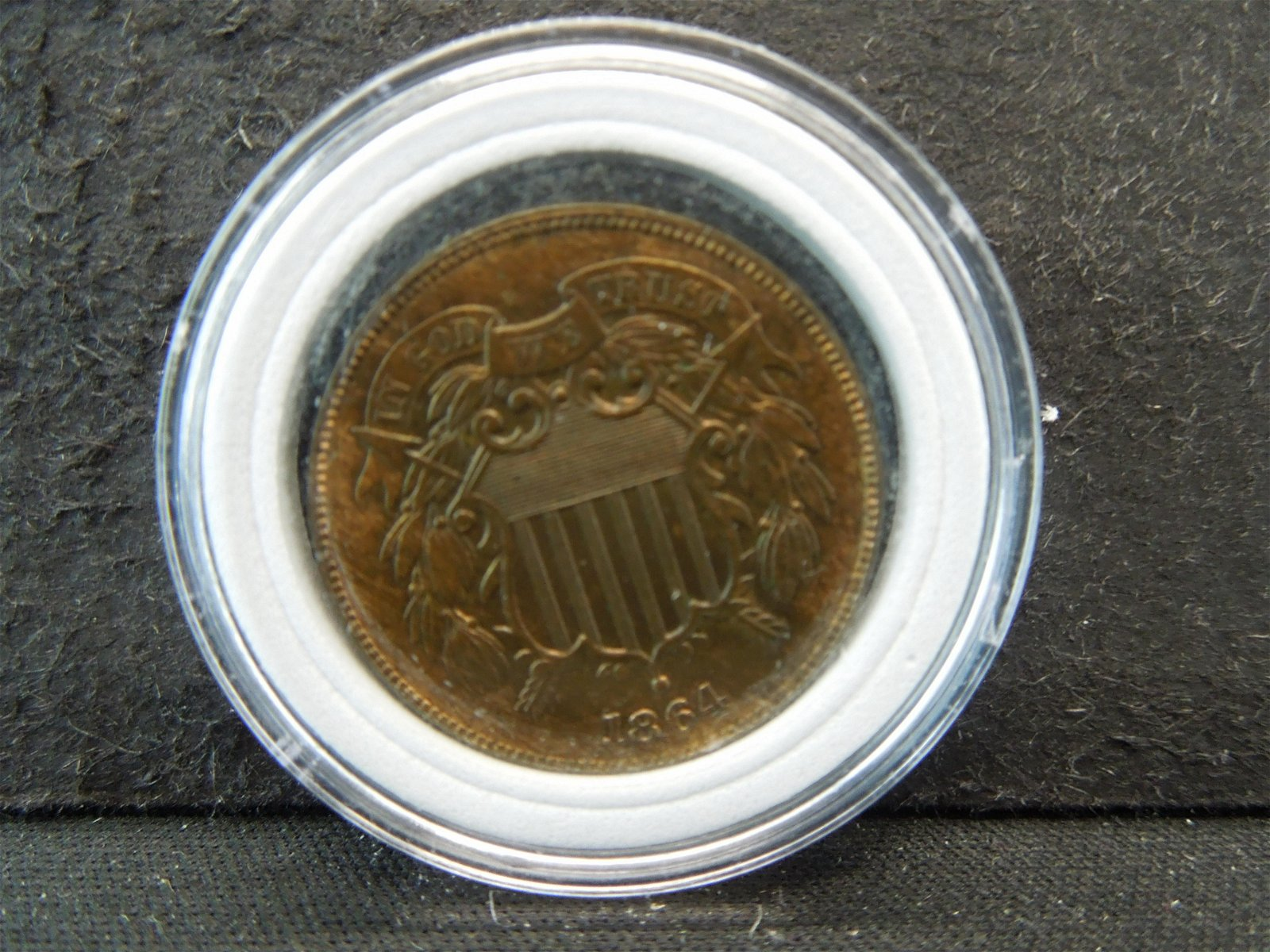 Unc 1864 Large Motto Two Cents