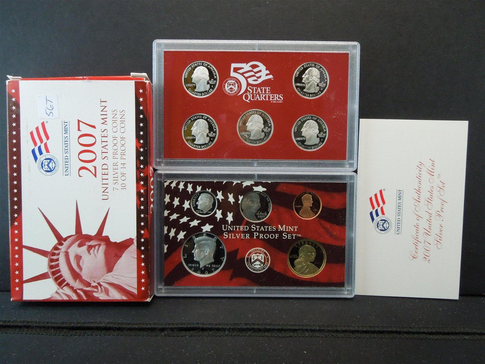 2007 U.S. Mint Silver Proof Set