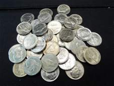 38 BU Jefferson Nickels with Various Dates from