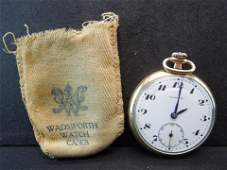 Combine Gold Filled Pocket Watch with Wadsworth Case
