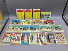 1972 Topps Baseball Lot of 20  Checklists Unmarked