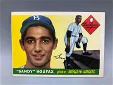 1955 Topps Sandy Koufax Rookie Card 123  No Creases