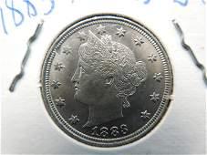 1883 No Cents Liberty Nickel High Grade