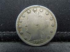 1912 S Liberty Nickel Great Details Key Date
