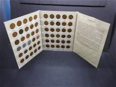 60 Lincoln Wheat Cents in Coin Folder
