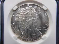 2007 American Silver Eagle 1 Troy oz 999 Fine Silver