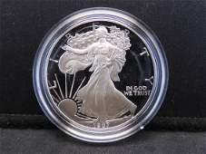 1987 S Proof American Silver Eagle 999 Fine Silver 1