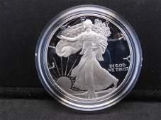1989 S Proof, American Silver Eagle .999 Fine Silver, 1