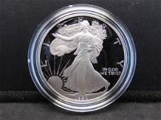 1990 S Proof, American Silver Eagle .999 Fine Silver, 1