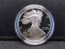 1991 S Proof American Silver Eagle 999 Fine Silver 1